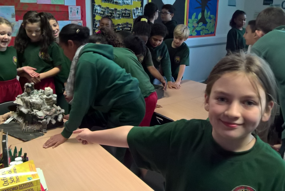 Y5 showing their 'Workhouses'